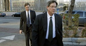 n this Jan. 21, 2015, file photo, brothers of polygamous sect leader Warren Jeffs, Lyle, foreground, and Nephi, leave the federal courthouse in Salt Lake City.   An estranged wife of polygamist leader Lyle Jeffs said she fought for custody of two of their children because she was worried the sect was going to ship them away. The Salt Lake Tribune reports audio recordings of a juvenile court hearing in April reveal Charlene Jeffs' attorney told a state judge that she was worried the teenagers would be hidden. (AP Photo/Rick Bowmer, File)