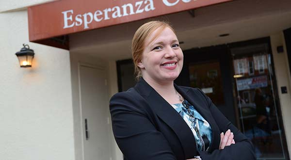 Adonia R. Simpson, Managing Attorney at the Esperanza Center. (The Daily Record/Maximilian Franz)