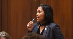 Del. Vanessa Atterbeary, D-Howard, is sponsoring a bill that would eliminate current provisions in Maryland law that allow a 16- or 17-year-old to get married with parental permission or proof of pregnancy. (Maximilian Franz/The Daily Record)