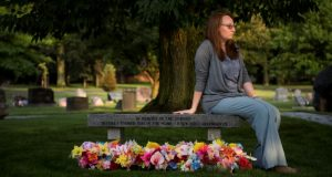 "Kate Plants lost five stored embryos when a freezer tank malfunctioned at a fertility center. The memorial, at a cemetery in Middleburg Heights, Ohio, honors the ""unborn"" lost in the accident. (Carolyn Van Houten/The Washington Post)"