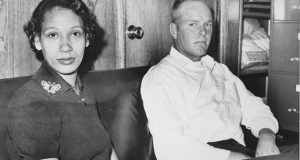This Jan. 26, 1965 file photo shows Mildred Loving and her husband Richard P Loving.  Bernard S. Cohen, who successfully challenged a Virginia law banning interracial marriage and later went on to a successful political career as a state legislator, has died. He was 86. Cohen and legal colleague Phil Hirschkop represented Richard and Mildred Loving, a white man and Black woman who were convicted of illegally cohabiting as man and wife and ordered to leave Virginia for 25 years(AP Photo, File)