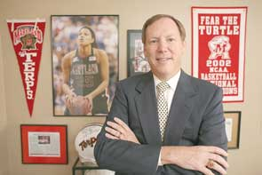 Upper Marlboro attorney Richard Jaklitsch, who is also president of the Terrapin Club, says that in prior years when Maryland has had a game during working hours, his firm has taken off to a nearby watering hole called 'The Office' to watch.