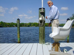 Kent Mountford, a former Chesapeake Bay Program scientist with the Environmental Protection Agency, resides in Southern Maryland on Leonard Creek. Capital News Service photo/Morgan Gibson
