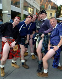"""The organization charged with maintaining standards in Highland dress has backed kilt-rental firms who say the age-old custom of """"going commando"""" has got to go."""
