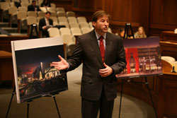 Joe Weinberg, president of the Cordish Cos. unveils plans for the casino at Arundel Mills to the Video Lottery Facility Location Commission