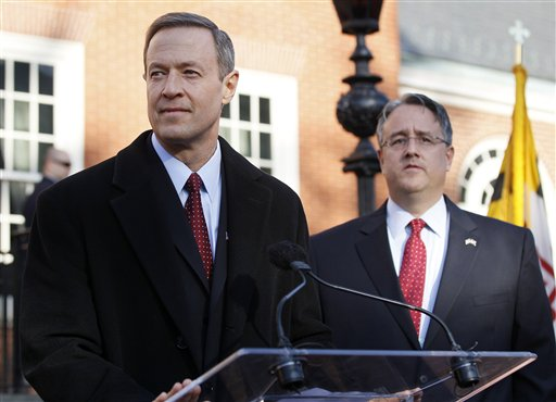 Martin O'Malley speaks in favor of gay marriage in January. State Sen.