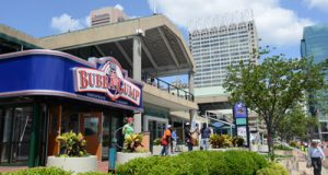 The Bubba Gump Shrimp Co. takes more than 14,000 square feet at Harborplace's Light Street Pavilion.