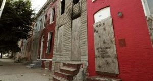 Vacant rowhouses