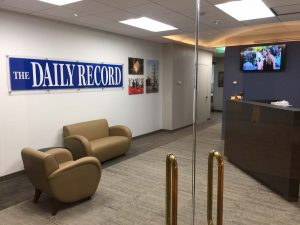 The Daily Record's new office space at St. Paul Plaza in Baltimore.