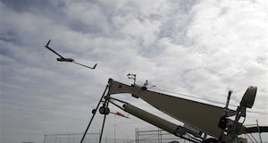 This photo taken March 26, 2013, shows an Insitu ScanEagle unmanned aircraft launched at the airport in Arlington, Ore. It's a good bet that in the not-so-distant future aerial drones will be part of Americans' everyday lives, performing countless useful functions. (AP Photo/Don Ryan)