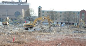 Construction has begun on the Horseshoe Casino site in south Baltimore. (Josh Cooper/The Daily Record)