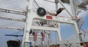 The huge new cranes at Seagirt Marine Terminal will be a vital component of handling cargo from the larger ships that will come to Baltimore through the expanded Panama Canal in a couple of years.