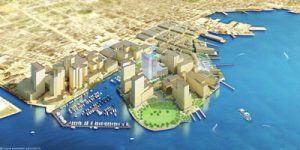 The Harbor Point project, as envisioned in a rendering.
