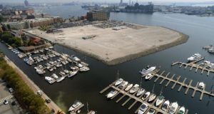 Photos of the Harbor Point site from the Legg Mason Building. (Maximilian Franz/The Daily Record)