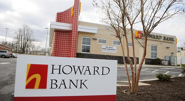 Howard Bank on U.S. Route 40 in Ellicott City. (Maximilian Franz/The Daily Record)