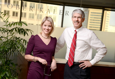 Kelly M. Preteroti and James E. Edwards Jr. have seen their firm's fiduciary litigation cases increase five-fold in the last five years. (The Daily Record/Maximilian Franz)