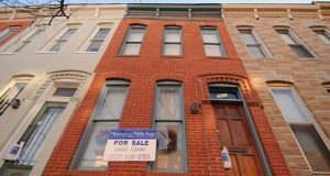 Exterior photos of a home for sale on the 700 Block of Portland Street in Downtown Baltimore. (Maximilian Franz/The Daily Record)