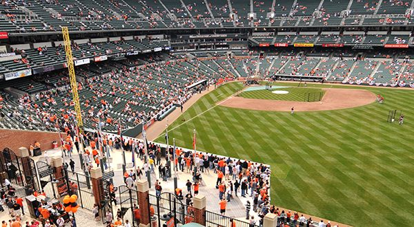 An unidentified usher told the girl and her stepfather to wait near the right field foul pole in the flag court, according to the lawsuit. (The Daily Record/Maximilian Franz)