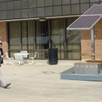 Towson U. pilots solar-powered outdoor desk
