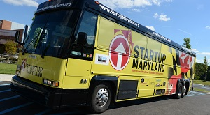 Startup Maryland's Pitch Across Maryland bus in its inaugural year, 2012. The winner that year was Rockville-based CoFoundersLab.