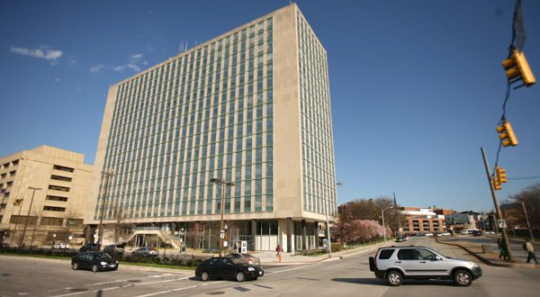 Conceived in 2005 as a transit-oriented mixed-use development, State Center was an attempt to revamp 1.5 million square feet of old state office space on the city's West Side. (The Daily Record/Maximilian Franz)