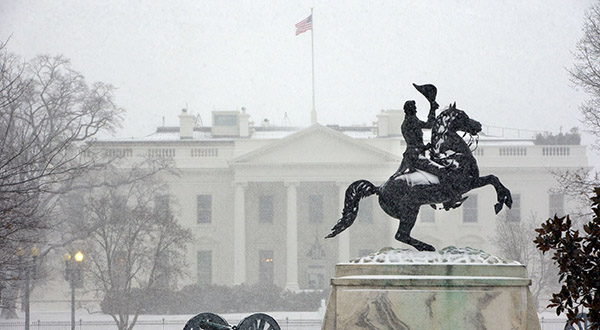 Record-breaking snowfall around nation's capital