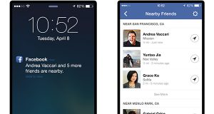 """This image provided by Facebook shows the """"Nearby Friends""""  tool. Using your smartphone's GPS system, it will tell your Facebook friends _ provided they have the feature turned on _ that you are nearby. Rather than share your exact location, though, it will only show that you are in close proximity, say within half a mile. (AP Photo/Facebook)"""