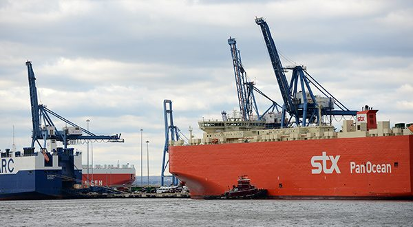 Cargo ships dock at the Port of Baltimore (File photo)