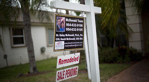 The National Association of Realtors said Monday that its seasonally adjusted pending home sales index rose 6.1 percent to 103.9 last month. It was the sharpest month-over-month gain since April 2010. (AP Photo/J Pat Carter)