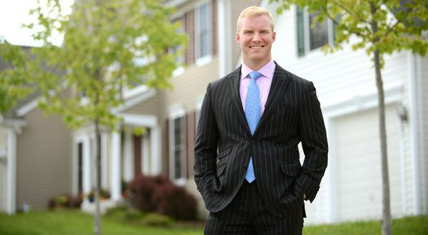 Jeff Gaines made his first home sale at age 23 and calls it 'a good addiction. He is less than half the age of the average Realtor.  (The Daily Record/Maximilian Franz)