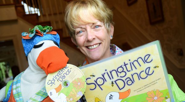 Valerie Leonhart Smalkin gave up practicing law in 2000 to become a music teacher and began performing as 'Silly Goose and Val' after retiring as a teacher. 'If you can make children laugh, that is a very important thing,' she says. (The Daily Record/Maximilian Franz)
