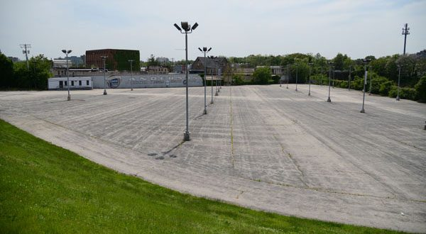 The former Anderson Automotive lot is the site of the proposed 25th Street Station development. (File photo)
