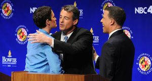Gansler, Brown clash over health care