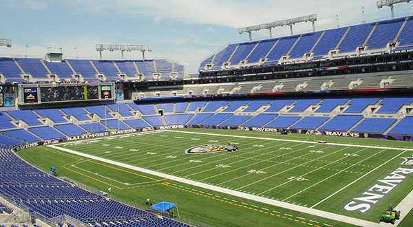 Fans and guests will have soon have access to free, high-density wi-fi at M&T Bank Stadium, thanks to 800 new wireless access points supplied by the California-based companies Extreme Networks Inc. and PCM Inc. (The Daily Record/Maximilian Franz)