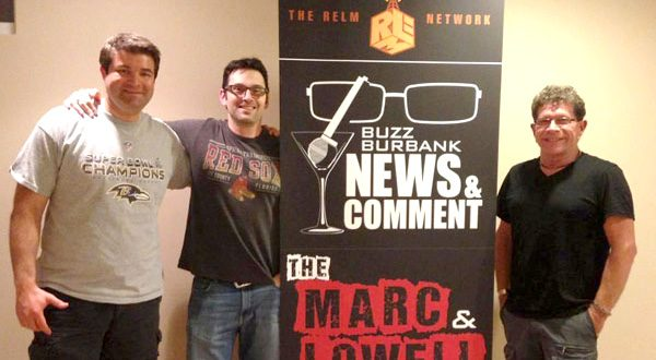 Lowell Melser, left, Marc Ronick and Buzz Burbank are the creators of the RELM Network, which has grown to 18 shows a week. (Photo courtesy of RELM Network)