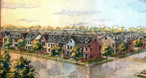 Towson Mews luxury apartments renderings. (Courtesy of Evergreene Companies LLC)