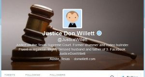 Justice Don Willett's Twitter page