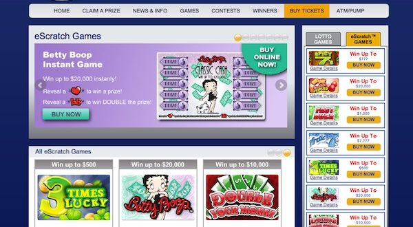 Online lottery sales