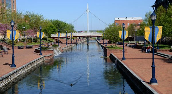 Carroll Creek in Frederick, where officials have recently raised tax assessments. (The Daily Record/Maximilian Franz)