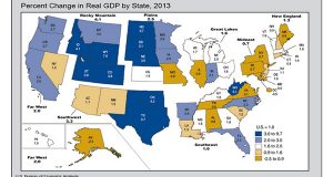 (Map taken from Department of Commerce / Bureau of Economic Analysis website)