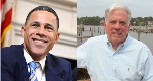 Lt. Gov. Anthony Brown and Larry Hogan (File photos)