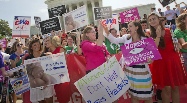 Justices: Can't make all employers cover contraception