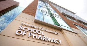 The University of Maryland School of Pharmacy.  (The Daily Record/Maximilian Franz)