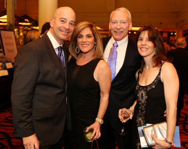 From left, Philip Bass, Ernst & Young; Paige Wablon, J. Brown Jewelers, Murray Mease, Bio Solutions, and Debbie Mease, enjoy cocktails.
