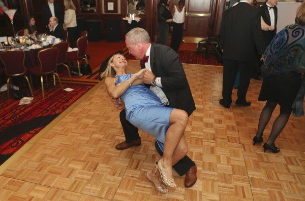 Peter Auchincloss, Watermark Corporation, and Lisa Auchincloss, Johns Hopkins University, showcase their ballroom skills.