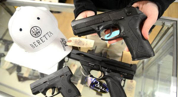 Beretta handguns for sale in 2013 at FreeState Gun Range in Middle River. (The Daily Record/Maximilian Franz - FILE)