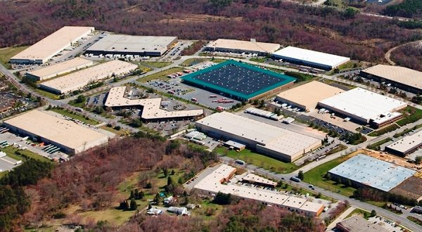 Aerial view of the business park where 7448 Candlewood Road is located in Hanover. (Photo courtesy of CBRE)