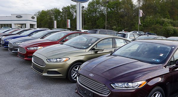 U.S. auto sales slowed slightly in June 2014 but still maintained a healthy pace despite a record-setting string of safety recalls at General Motors and a slowdown in truck sales at Ford. Ford's U.S. sales chief John Felice said sales picked up at the end of June as automakers started promoting Independence Day sales. (AP Photo/Keith Srakocic)