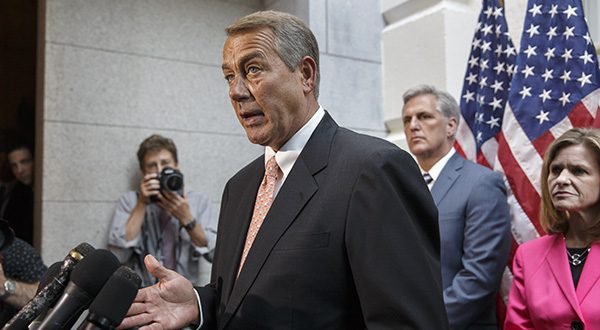 """I think there's sufficient support in the House to move this bill,"" House Speaker John Boehner told reporters after meeting with rank-and-file lawmakers on the issue. ""We have a little more work to do though.""   (AP Photo/J. Scott Applewhite)"