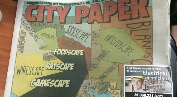 The cover of the July 16-July 23 edition of the City Paper. Sen. Bill Ferguson does not like how some neighborhoods are labeled.